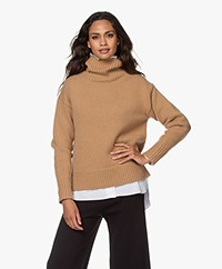 Rag & Bone Lunet Lambswool Turtleneck Sweater - Camel
