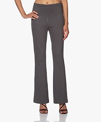 no man's land Flared Jacquard Jersey Broek - Zwart
