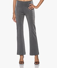 no man's land Jersey Lurex Pants - Antracite