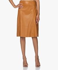 Kyra & Ko Tyra Faux Leather Skirt - Gold Spice