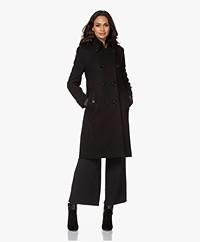 Drykorn Harleston Knee-length Wool Blend Coat - Black