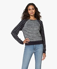 Rag & Bone The Knit Gestreepte Trui - Gemêleerd Navy