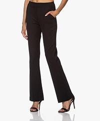 Kyra & Ko Olla Flared Ponte Jersey Pants - Black