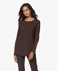JapanTKY Saty Travel Jersey Long Sleeve - Dark Brown