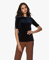 Majestic Filatures Nicky Velours Jersey T-shirt - Ombra