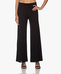 LaSalle Milano Knitted Flared Pants - Black