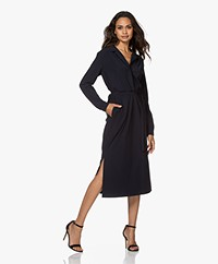 Josephine & Co Joyce Travel Jersey Midi Jurk - Navy