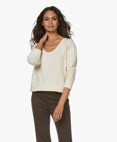 Denham Showa Scoop Neck Sweater - Chalk