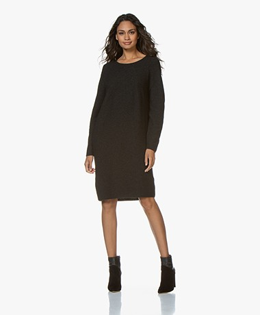 Sibin/Linnebjerg Bjørk Knitted Merino Blend Dress - Anthracite
