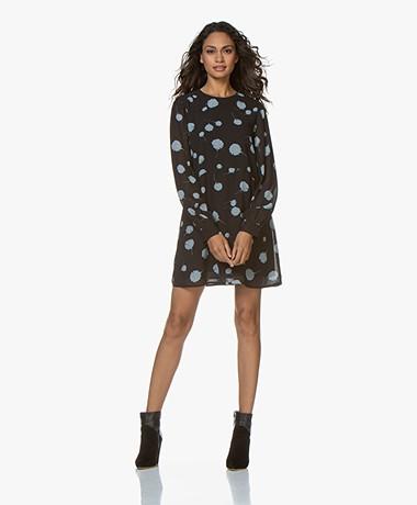 Denham Naka Printed Mini Dress - Black