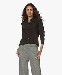 Filippa K Classic Silk Shirt - Black