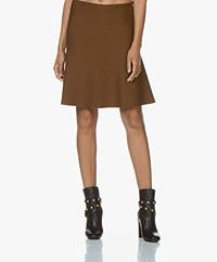 no man's land Knitted Wool Circle Skirt - Copper