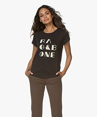 Rag & Bone RB Vintage T-shirt - Black