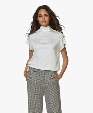 By Malene Birger Candillon Zijden Blousetop - Soft White