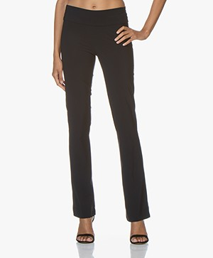 Woman by Earn Katja Flared Tech Jersey Broek - Navy