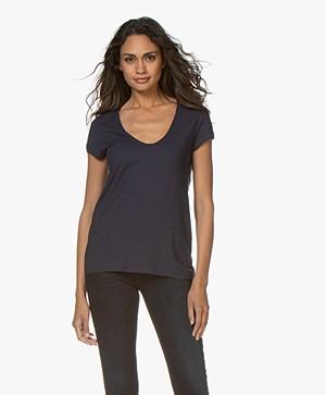 Drykorn Avivi Slub Jersey T-shirt - Dark Blue