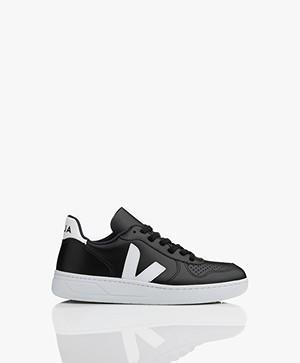 VEJA V-10 Leren Sneakers - Zwart/Wit