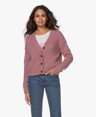 Pomandère Chunky Knit Wool Blend Cardigan - Pink