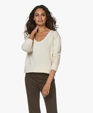 Denham Showa Scoop Neck Sweater - Chalk