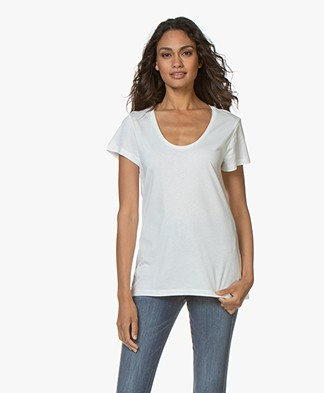 Denham Pacific Modal Blend T-shirt - Off-white