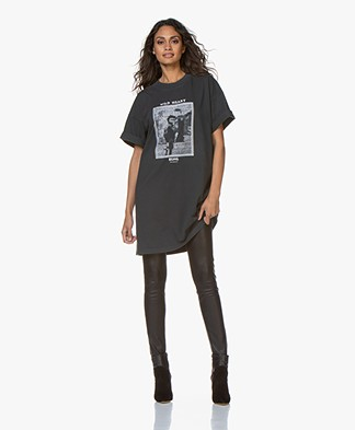 ANINE BING Mohawk Harley Tee Dress - Washed Black