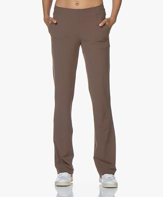 JapanTKY Mino Straight Leg Travel Jersey Pants - Tabacco