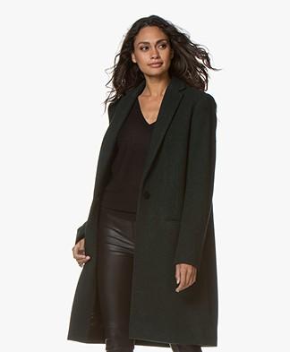 By Malene Birger Ellinor Knee-length Wool Blend Coat - Tent Green