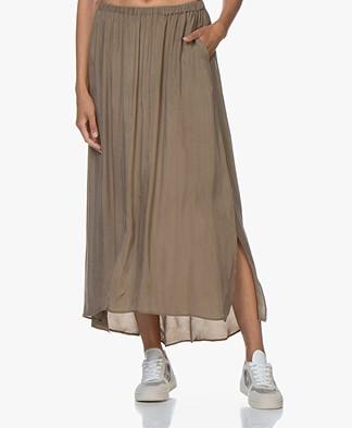 American Vintage Nonogarden Cupro Blend Maxi Skirt - Sage