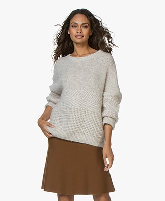 Drykorn Nolima Structured Knit Sweater - Beige