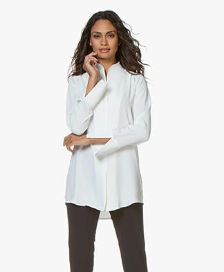Woman by Earn Nada Blouse met Opstaand Boord- Off-White