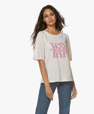 ba&sh Trevor Print T-shirt - Nude