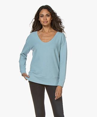Denham Showa Scoop Neck Sweater - Sky Blue