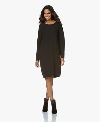 Sibin/Linnebjerg Bjørk Knitted Merino Blend Dress - Anthracite
