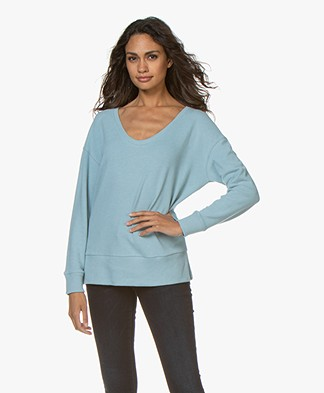Denham Showa Scoop Neck Sweater - Sky Blue