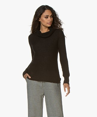 no man's land Alpaca Mix Turtleneck - Black