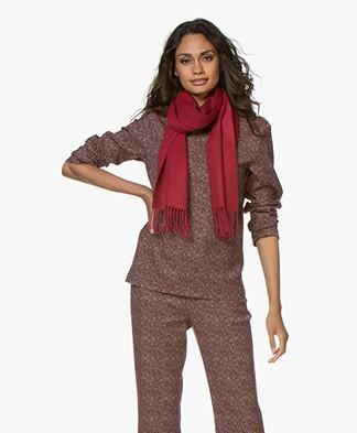 Alpaca Loca Uni Alpaca Sjaal met Franjes - Rood