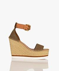 See By Chloé Village Wedge Sandals  - Cuoio