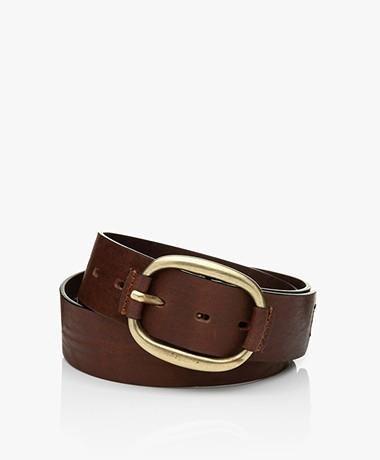 ba&sh Barlone Calf Leather Belt - Brown