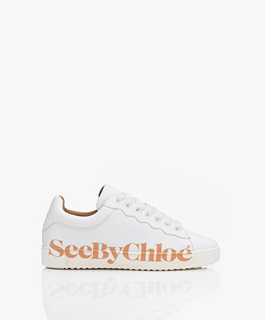 See by Chloé Essie Leren Sneakers - Wit/Roze
