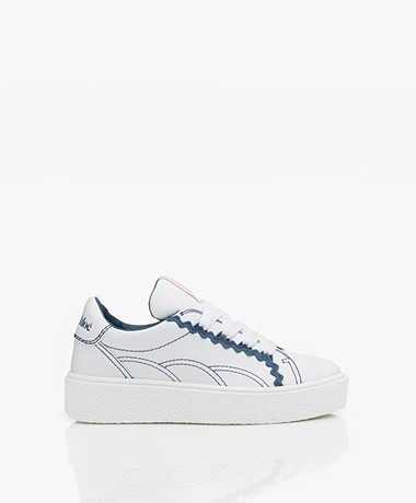 See by Chloé Sevy Leren Sneakers - Wit/Blauw