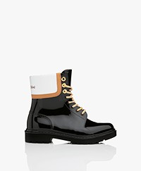 See by Chloé Florrie Lace-up Rain Boots - Black