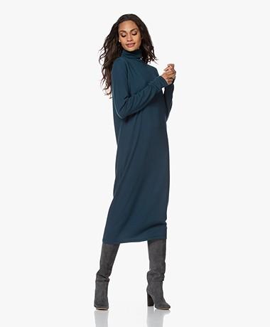 Drykorn Joseppa Fine Knit Virgin Wool Turtleneck Dress - Deep Dive