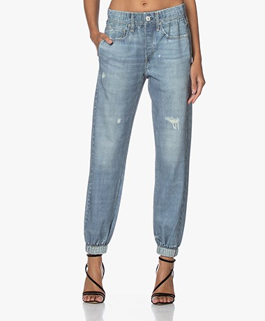 Rag & Bone Miramar Jeansprint Sweatpants - Glasshill Blauw