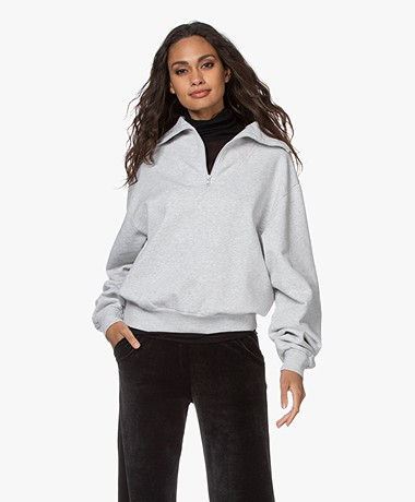 ANINE BING Jalen French Terry Sweatshirt - Grey Melange