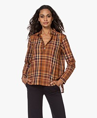 indi & cold Checkered Cotton Shirt - Multi-color