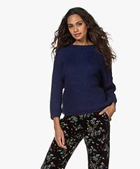 by-bar Milou Susi Fisherman's Rib Sweater - Indigo Blue