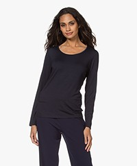 no man's land Viscose Long Sleeve - Dark Sapphire