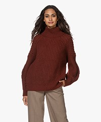 ba&sh Buffy Oversized Alpacamix Coltrui - Wine