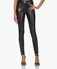 Wolford Edie Shaping Vegan Leather Leggings - Black
