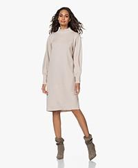 LaSalle Milano Knitted Turtleneck Dress - Latté